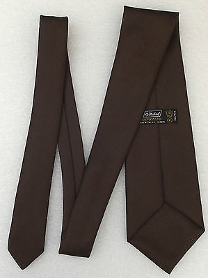 Vintage 1970s tie by M&S Brown textured polyester Washable